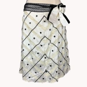 Free People Ribbon & Tulle Beaded Skirt 2